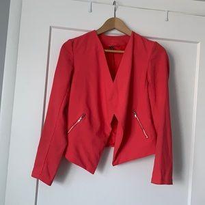 Fashion hot pink blazer